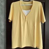 Фирменная коттоновая футболка в состоянии новой вещи р.16-22
