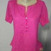 Шикарная блуза лен+каттон р.46 идеального сост.