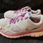Легкие серые кроссовки Nike, разм. 36 (22,5 см по бирке). Сост. хорошее!