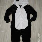Плюшевый слип пижама панда на 2года замеры на фото