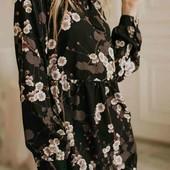 Нежное цветочное платье. ХЛ