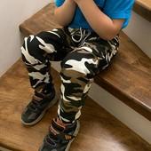 Качественные модные джоггеры для мальчиков. Размер 98-104.