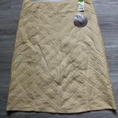 Фирменная новая коттоновая юбка расшитая бисером р.12-14