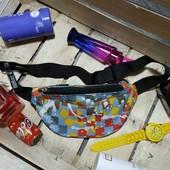 Стильная сумка бананка поясная сумка с ярким принтом (в лоте одна на выбор)
