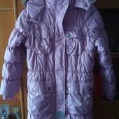 Куртка, еврозима, внутри флис, размер 7-8 лет 122-128 см, Next. состояние отличное