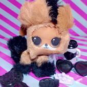 меняет цвет! лошадка Vacay neigh neigh серия Fluffy pets с акессуарами Winter disco mga lol лол