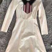 Жіноча сукня льон Вишивка 42 розмір XS S