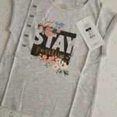 Шикарная фирменная футболка для девочки размер 104