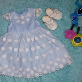 Шикарное фирменное платье + туфельки на принцессу 3-6 мес.