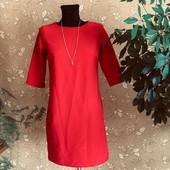 Мой пролет! Оригінальне плаття червоного кольору з карманами розмір с