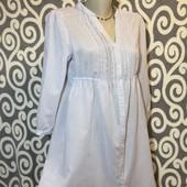 Невесомая в полосочку, удлененая рубашечка H&M для пышненьких модниц.