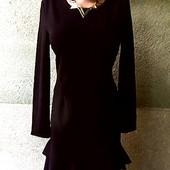 ***Брендовое платье***Boohoo, отличное черное трикотажное платье, размер наш 46-48, новое, с биркой