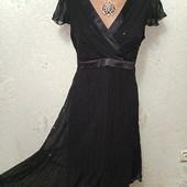 Шикарное нарядное легенькое чёрное платье с пайетками Новое с биркой р 14 Акция читайте