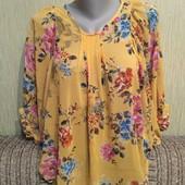 Фирменная блузка New Look (Нью Лук), размер uk 12-14, качественная, мерки есть