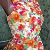 Лёгкая блуза с баской и молнией на всю спину, размер xs-s