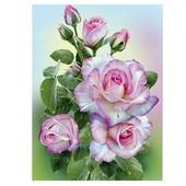 "Алмазная вышивка ""Розы"". Частичная выкладка. Холст 30*40 см"