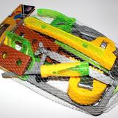 """Набор игрушечных инструментов в сетке """"Юный строитель"""" 17 предметов"""