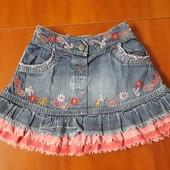 Джинсовая юбка для девочки р.1-2