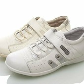 Натуральная кожа. Кроссовки ТМ Walker white/beige, 21 см
