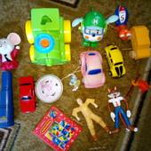 Лот для мальчика, машины, супергерои, макдональдс, киндер, йо-йо, пятнашки Лот все 14шт.