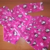 Махровые халаты для девочки. Один на выбор. На рост 92,98,104