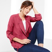 Текстильная ветровка ягодного цвета в стиле casualTchibo (германия) 100% Lyocell, размер 40 евро=46-