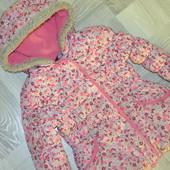 Гарна зимова курточка на дівчинку 4-5 років