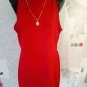 Красивое красное платье 46-48р