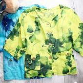 Качество!!! Стильный летний пиджак/лен, Made in Italy, новое состоянии, р. 3XL+-