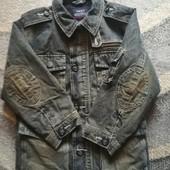 Next утепленная ,удлиненная джинсовая куртка для мальчика, на 3-4года, на рост 104