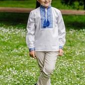 Дуже якісна вишиванка для хлопчика р.134,140см