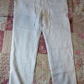 Льняные брюки новые