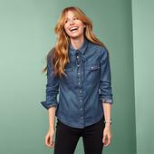 Мини нюансик!!!! Классная джинсовая рубашка\блуза от Tchibo размер евро 44 (укр 50)