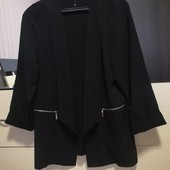 Стильный, легкий жакет, пиджак без пуговиц Yours. p. 16/xxl