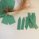 Водостойкие пластиковые бирки для растений. Лот 20 штук (10+10)