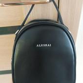Фирменная кожаная сумочка-рюкзак от Alex Rai