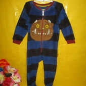 Утепляемся !!!! махровый домашний комбинезон слип пижама на 3-4 года !!!!!!!