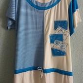 Платье в морском стиле,р.50-54