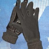 Стильные мужские кожаные перчатки Livergy Германия, кожа наппа войлок размер 9,5.