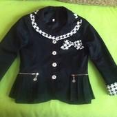 Интересный пиджак для маленькой школьницы