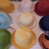 Соломенная шляпка Котик мышка ушки 50-52, 52-54 и 56-58