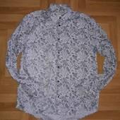 ☀️ Классная модная рубашка от H&M на крупного мужчину, размер указан L. Читаем!