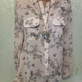 Шикарная нарядная нежная пудровая легенькая рубаха р.10 Акция читайте