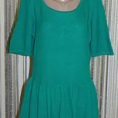 Стильный свитерок с баской, рукав до локтя, пог 50-75