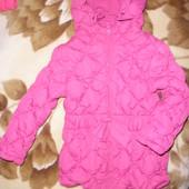Бомбезная! Яркая,очень тёплая и удобная курточка Futurino 2-4г в идеале