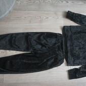 Велюровый костюм по бирке 11-12лет(маломерит, на 9-11). См.замеры! Сост.отл!