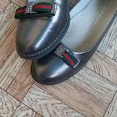 Красивые перламутровые туфельки для школьницы, 21,5 см стелька
