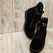 Женские ботинки- натуральный замш.