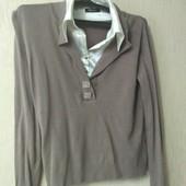 46-48 нарядная кофта с рубашки воротником обманка