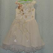 Красивое пышное платье для настоящей принцессы 4-6 лет